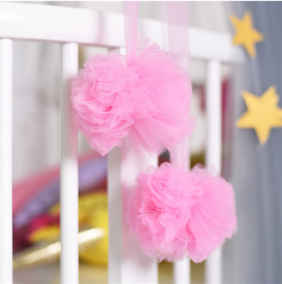 Pom Garland - Pink for baby nursery kids room playroom room decor decoration for canopy princess scandi nordic style