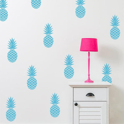 Pineapple Wall Decals for baby nursery, kids bedroom and playroom. modern tropical nordic style
