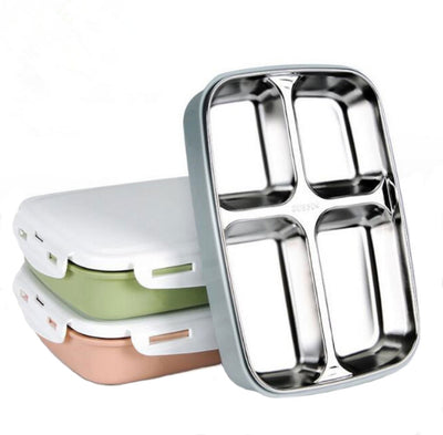 Stainless Steel Lunch Box for toddlers and kids. Perfect for kindergarten, school, picnic