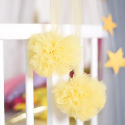 Pom Garland - Sunshine for baby nursery kids room playroom room decor decoration for canopy princess scandi nordic style