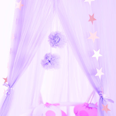Sheer Canopy - lilac for baby nursery, kids bedroom and playroom. Princess nordic style