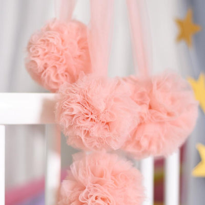 Pom Garland - Blush for baby nursery kids room playroom room decor decoration for canopy princess scandi nordic style