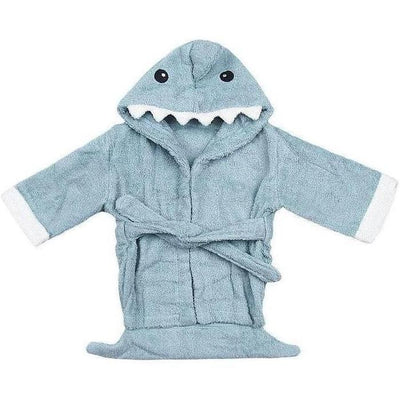 Hooded Shark Bathrobe baby newborn toddler towel pink blue bathing shower beach towel