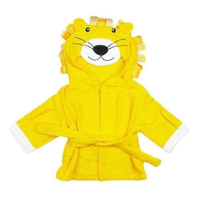 Hooded Lion Bathrobe baby newborn toddler towel yellow bathing shower beach towel