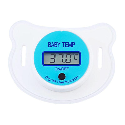 Digital Thermometer Pacifier Baby Nipple Thermometer Medical Silicone Pacifier LCD Digital Children's Thermometer Health Safety Care Thermometer For baby, infant, kids, Children
