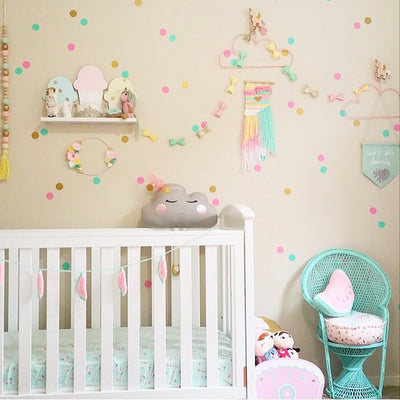 Polka Dot Wall Decals for nursery, kids playroom, home decor