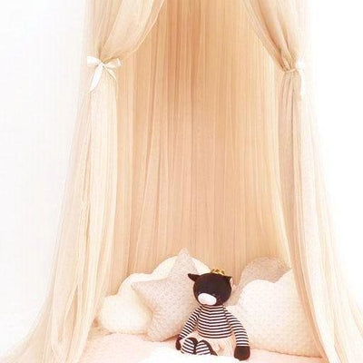 Sheer Canopy - honey for baby nursery, kids bedroom and playroom. Princess nordic style