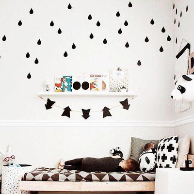 Rain Drops Wall Decals for baby nursery, kids bed room and playroom. Modern nordic style