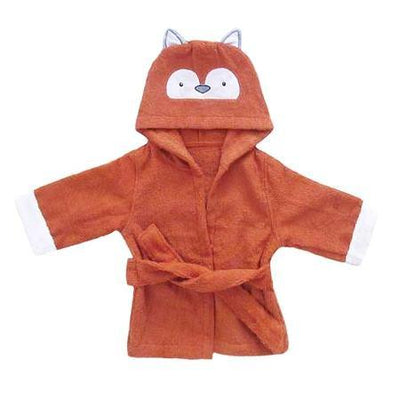 Hooded Fox Bathrobe baby newborn toddler towel brown bathing shower beach towel