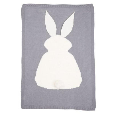 Knitted Bunny Blanket Cute Rabbit Animals Pattern Blanket for baby toddler and kids