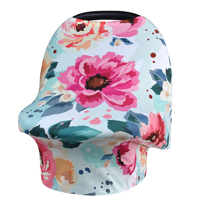 Multi-Use Nursing Cover -  Summer Bloom for baby nursing mom capsule carseat cover highchair cover scarf pram stroller cover