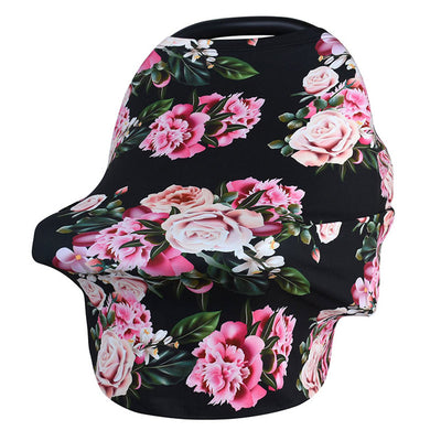Multi-Use Nursing Cover - Blooming Bouquet for baby nursing mom capsule carseat cover highchair cover scarf pram stroller cover
