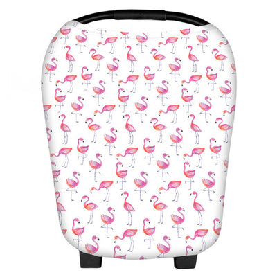 Multi-Use Nursing Cover (Flamingo) breastfeeding nursing cover capsule cover stroller pram buggy cover baby