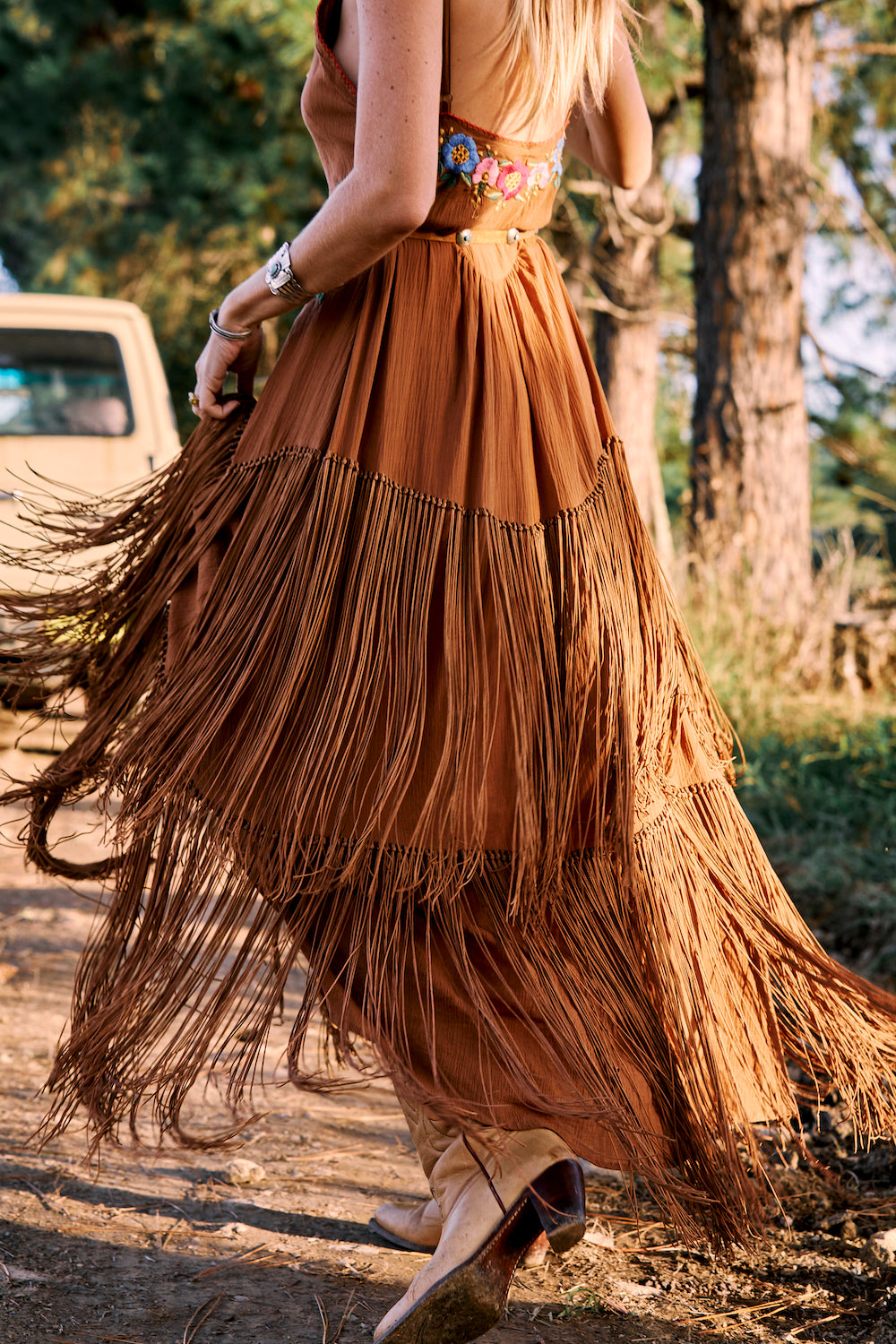 After Midnight fringe fiesta dress