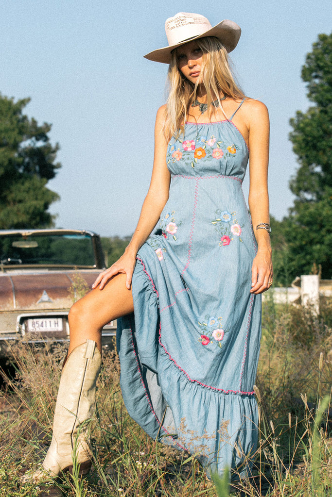Bad Moon Rising sundress - Mexican floral