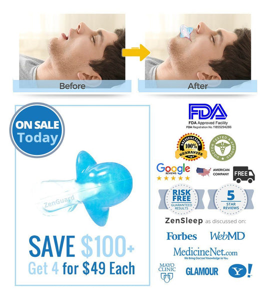 [ON SALE TODAY SAVE $202] Single ZenGuard Tongue Retaining Device - Stops Snoring in 24 Hrs, Guaranteed.