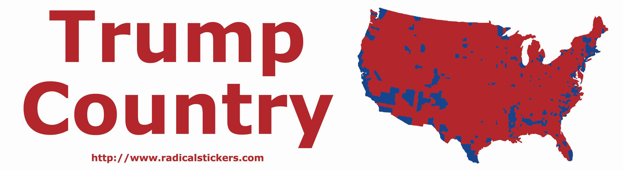 Trump Won A Majority Vote In Of The Counties Within - Map of us political counties