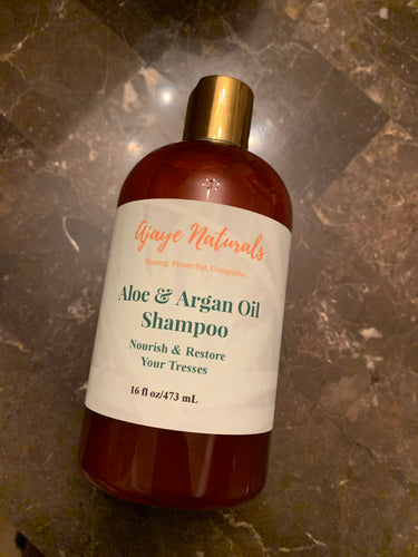 Aloe & Argan Oil Shampoo (12oz)