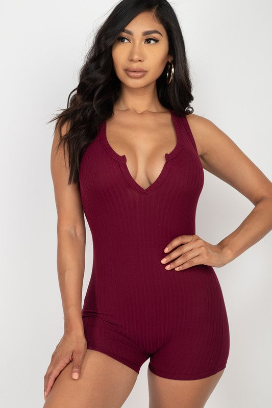 LAYERS SIMPLE SEPARATES 1 Pc  Tank ribbed romper