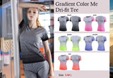 Gradient Color Me Dri-fit Tee - Exercise Suit-Up! Clothing wear