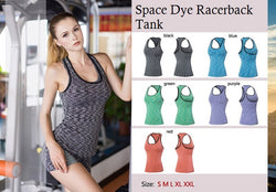 Space Dye Racerback Tank - Exercise Suit-Up! Clothing wear