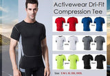 Activewear Dri-fit Compression Tee - Exercise Suit-Up! Clothing wear