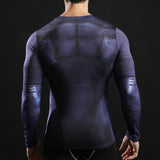 Batman Retro Activewear Compression Long Sleeves - Exercise Suit-Up! Clothing wear