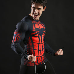 Spiderman Classic Activewear Compression Long Sleeves