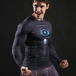 Iron Man Activewear Compression Long Sleeves