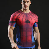Spiderman Activewear Short Sleeves - Exercise Suit-Up! Clothing wear