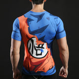 Goku Activewear Compression Short Sleeves - Exercise Suit-Up! Clothing wear