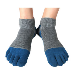 Men Five-Toe Socks (Gray/ Orange/ Green/ Red/ Blue/ Sky Blue) - Exercise Suit-Up! Clothing wear