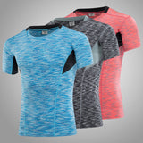 Space Dye Color Compression Tee - Exercise Suit-Up! Clothing wear