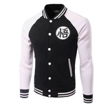 Dragonball Varsity Jacket (Black/ Blue/ Orange) - Exercise Suit-Up! Clothing wear