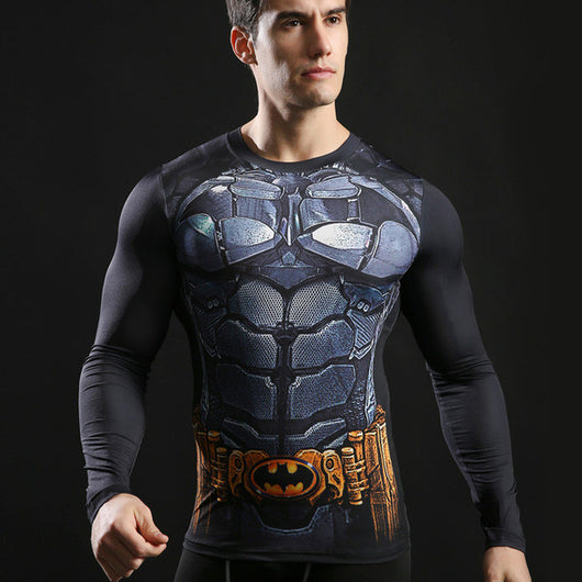Dark Knight Activewear Compression Long Sleeves - Exercise Suit-Up! Clothing wear