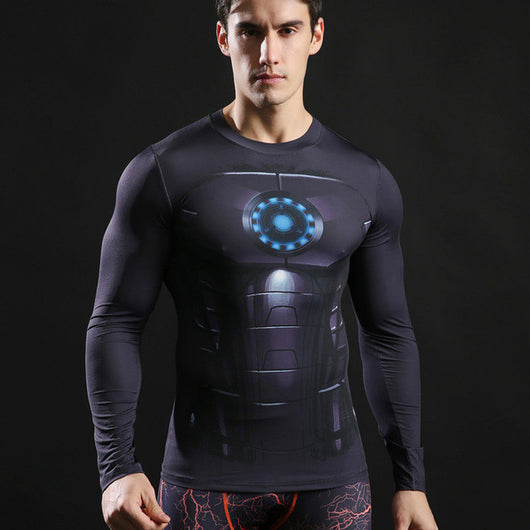 Iron Man Activewear Compression Long Sleeves - Exercise Suit-Up! Clothing wear
