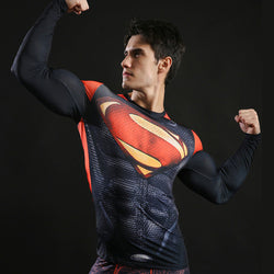 Superman Alternate Activewear Compression Long Sleeves
