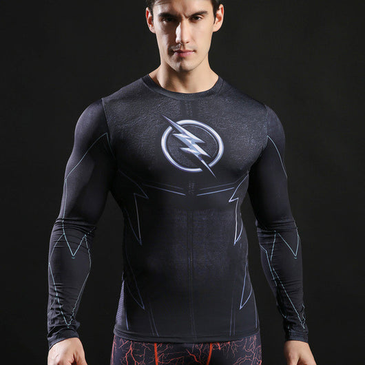 The Flash Activewear Compression Long Sleeves - Exercise Suit-Up! Clothing wear