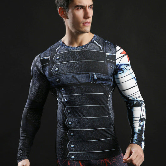 Winter Soldier Activewear Compression Long Sleeves - Exercise Suit-Up! Clothing wear