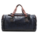 PU Leather Duffel Bag (Coffee Black/ Brown/ Shadow Blue) - Exercise Suit-Up! Clothing wear
