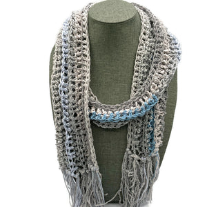 Cotton blend long scarf