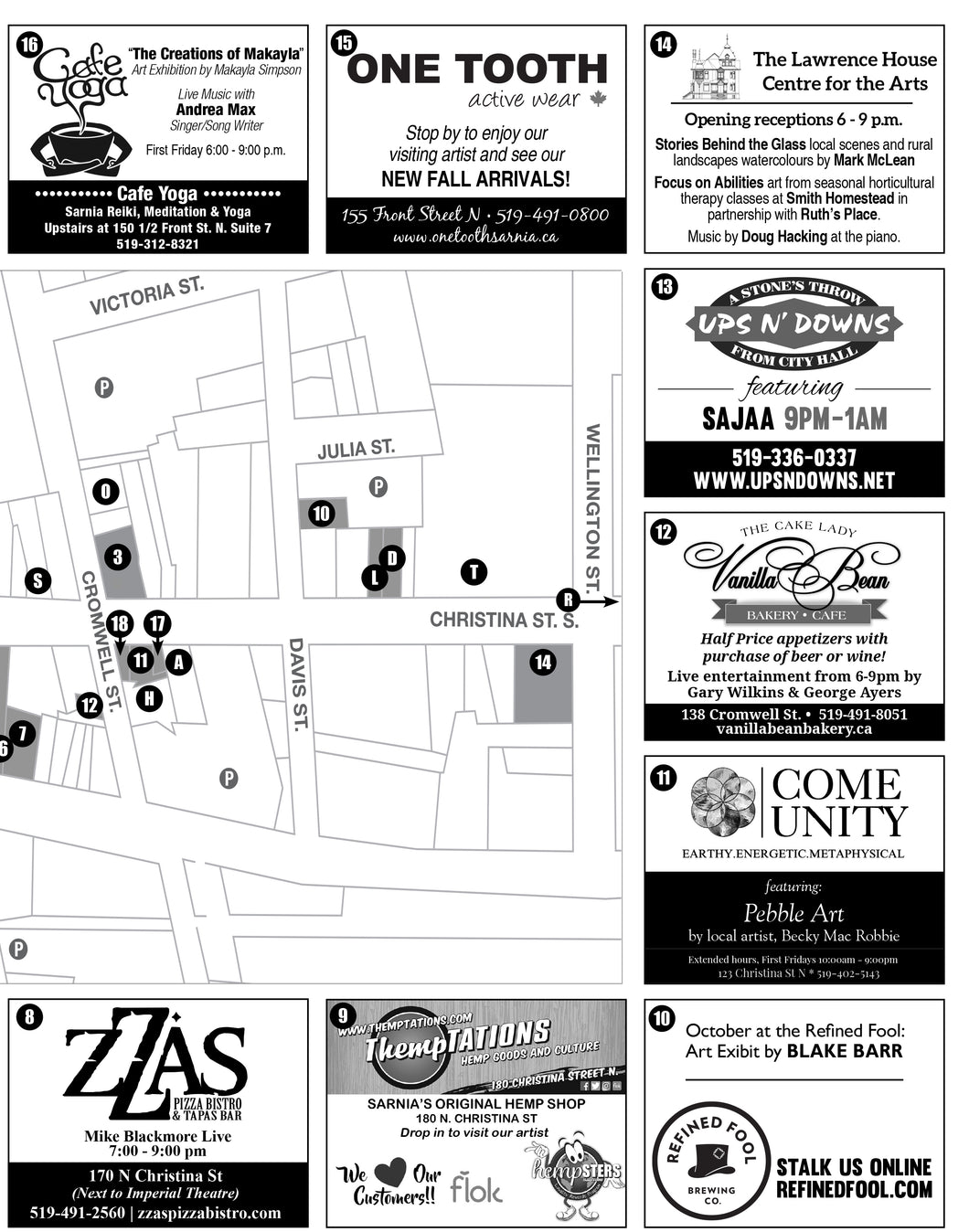 First Friday Arts and Culture Map Ad