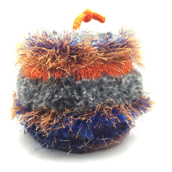 Happy Hat, Medium, Grey Orange and Blue