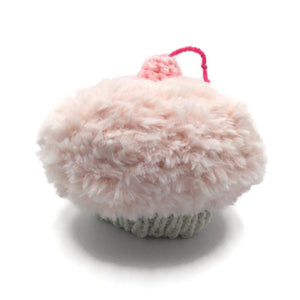 Cupcake Hat, Extra-Small, Light Pink and White