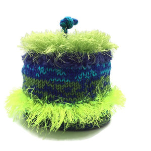 Happy Hat, Medium, Blue and Green