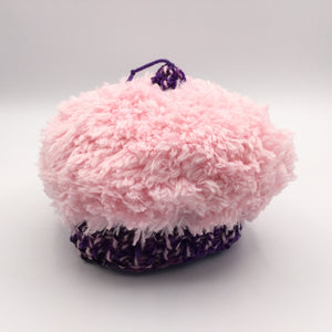 Cupcake Hat, Medium, Light Pink and Purple