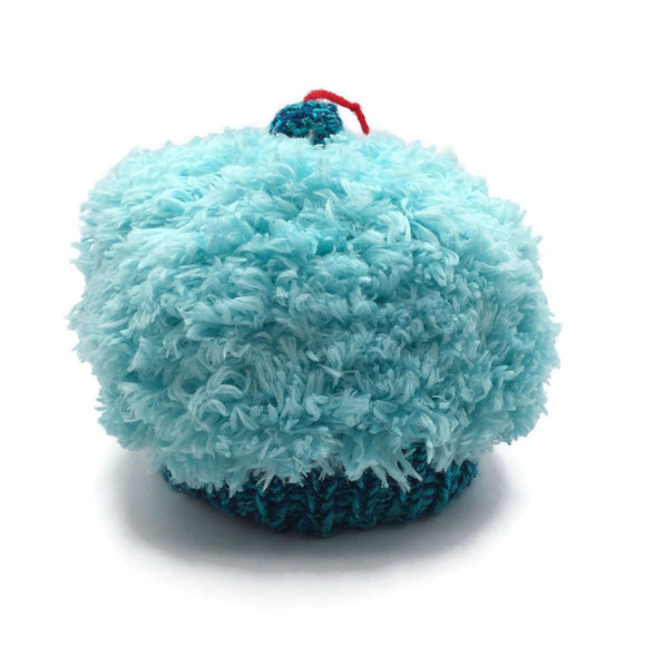 Cupcake Hat, Small, Teal and Blue