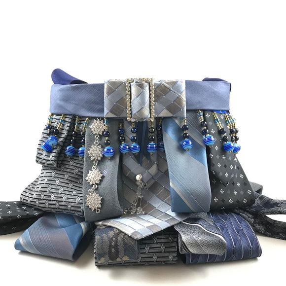 Blue Charity Tie Bag