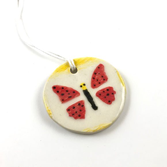 Red Butterfly Pendant