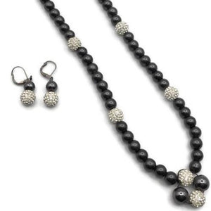Beaded Necklace and Earrings Set